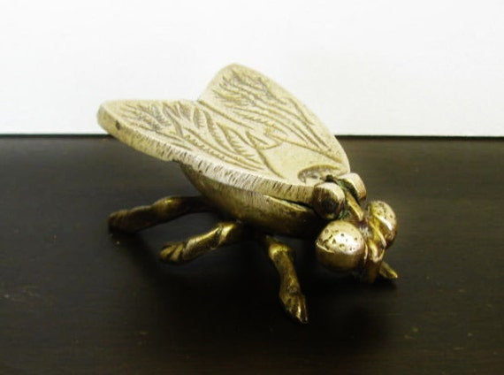 Brass Fly Box, Ring or Pill Box