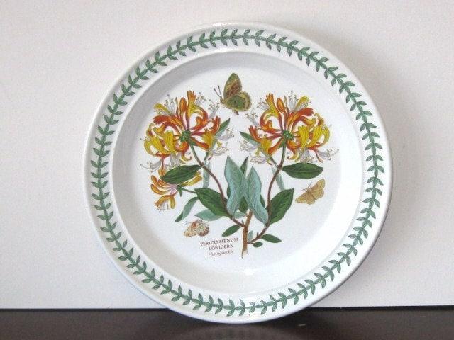The Botanic Garden Dark Honeysuckle Portmeirion Plate Rare