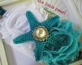 Baby Girl Headband - Baby Headband - Turquoise Starfish Headband - Newborn Headband - Infant Headband - Starfish - Photo Prop