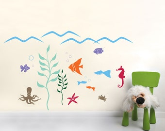 Aquarium Wall Decal Collection - Kid's room Wall Stickers