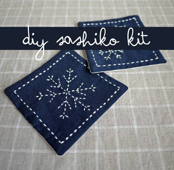 DIY Home Decor Snowflake Sashiko Embroidery Kit Yuki