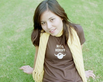 Miso Horny  (unisex) - funny tshirts asian style by LAU ZOO