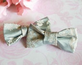 Pretty Blue Damask Hair clips