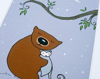 Nursery art Mini Print Goodnight Poss