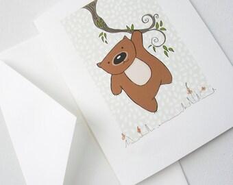 Greetings card, gift card Wom on a Vine