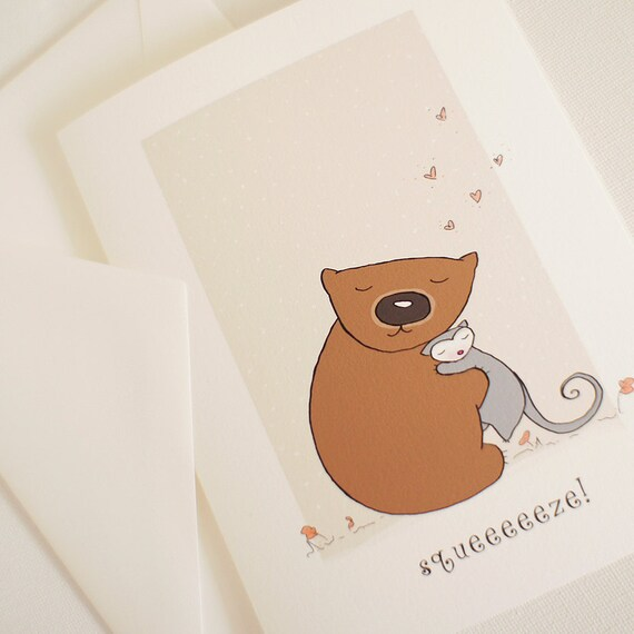 Valentine or custom card A nice Wom hug
