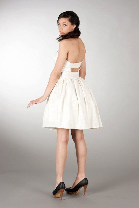 One off Sample The Hayley Dress Cream Strapless 50s vintage inspired Wedding dress UK Ethical