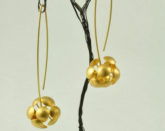 22K Gold Earrings No 057-1