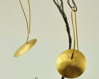 22K Solid Gold Handcrafted Earrings, No. 58-1