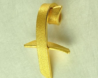 22K Solid Gold, Handcrafted Cross, No. 027-32