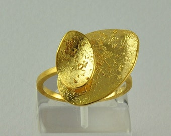 22K Solid Gold, Handcrafted Ring, No. 012-6