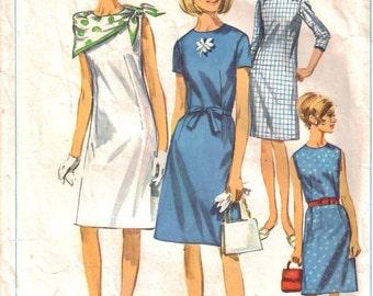 Vintage Dress Pattern 1966 Size 16 Simplicity 6862
