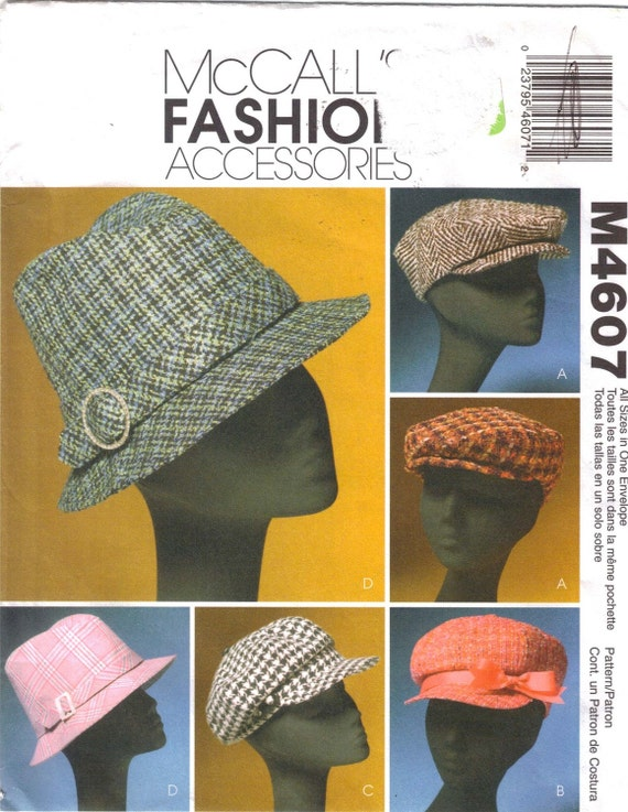 McCalls 4607  Pattern for Hats in 4 Styles