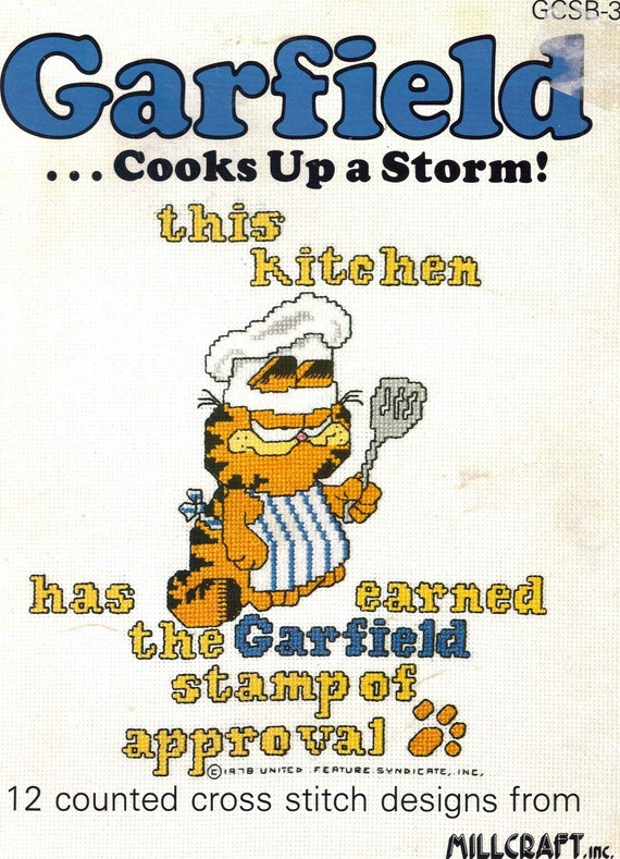 Garfield Counted Cross Stitch Pattern Booklet