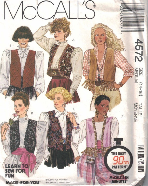 Like this item? - CLEARANCE Women's Vest Pattern 6 Styles Size 14 16