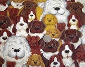 Fat Quarter - Puppies