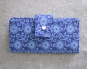 Fabric Wallet - Blue Floral Canvas