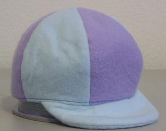 Fleece Ballcap - Blue & Lavender - Small 0-6 months