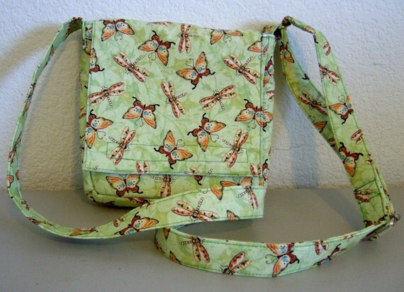 Insulated Sandwich Pouch - Butterflies & Dragonflies