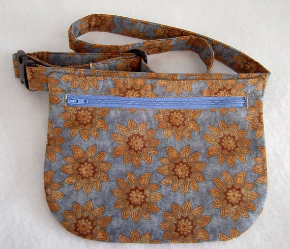 Hip Bag - Suns on Light Blue Background