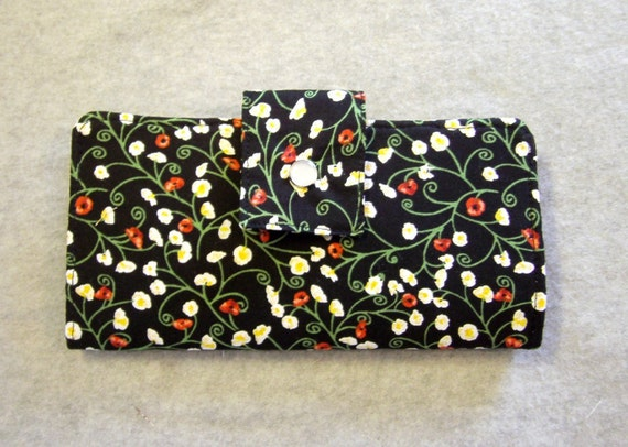 Fabric Wallet - Poppies