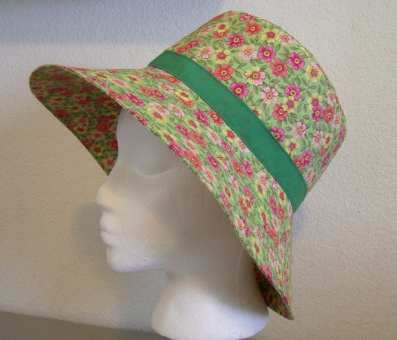 Sunhat - Green Floral