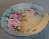 Vintage Hand Painted Serving Plate