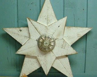 Wooden Star Beach House Wall Art Inside Outside - 22 to 26 Inches