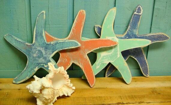 Starfish Sign Beach House Wall Art Decor by CastawaysHall