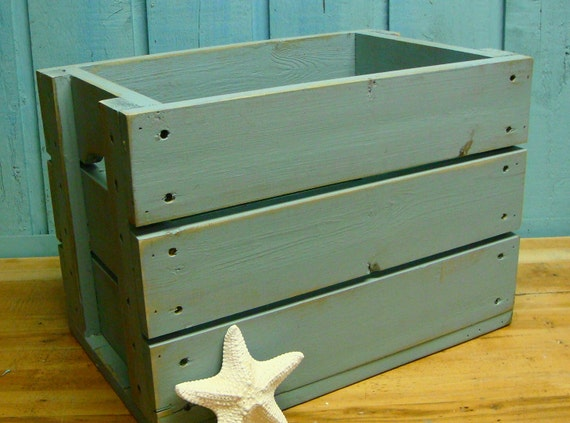 Fog Gray Crate Side Table