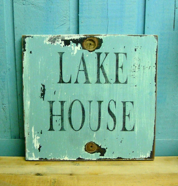 Lake Home Decor: LAKE HOUSE Sign Beach House Wall Art Decor