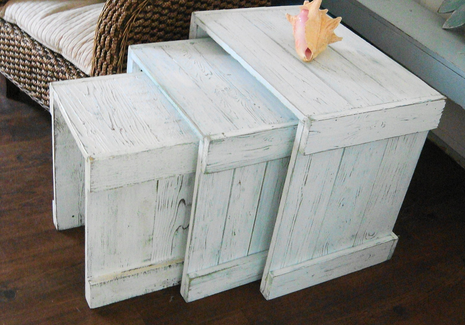 Side Night Tables Nesting Table Beach Cottage Lake Country