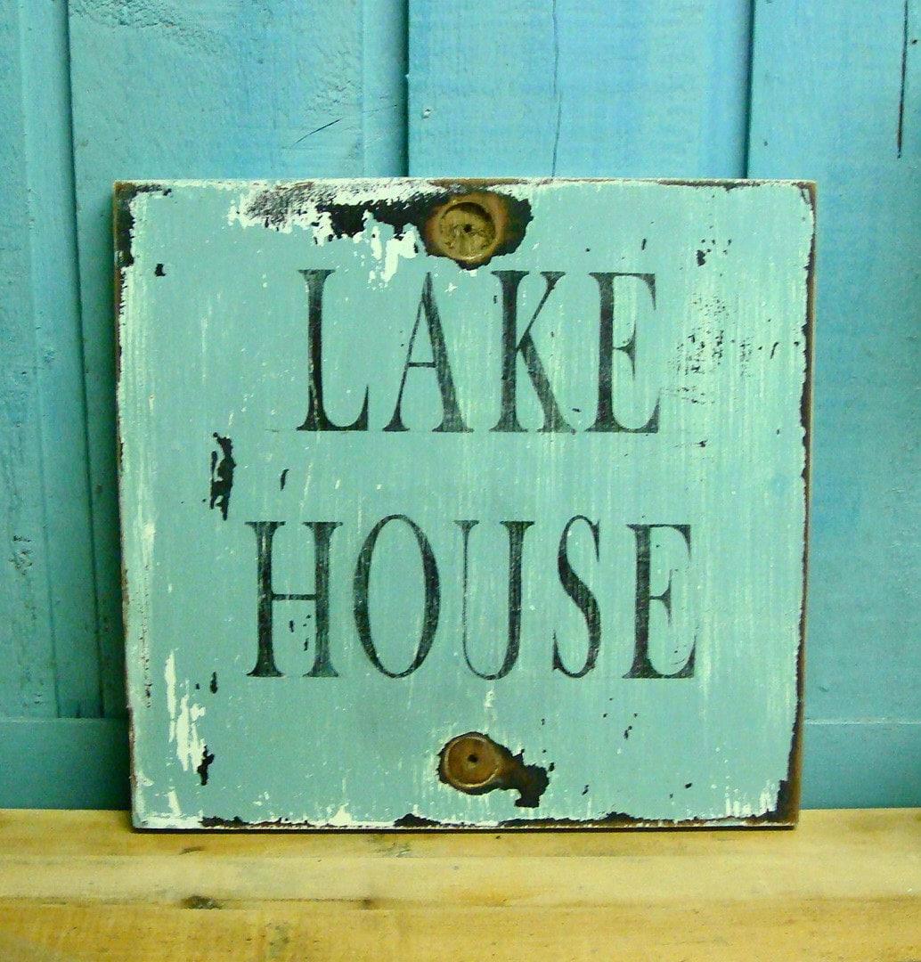 Art Décor: LAKE HOUSE Sign Beach House Wall Art Decor