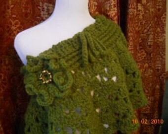 Crochet mini poncho