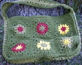 Crochet Square Motif Purse Evergreen (Clearance - discontinued line)