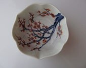 Small Hand Painted Asian Cherry Blossom Porcelain Bowl