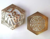 Two Brass Trivets Chinoiserie Asian