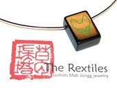 CUSTOM Rexphiles tile on 20inch black cable choker