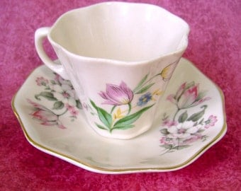 """Claire Lerner """"California Pottery""""  Demi-Tass Cup & Saucer"""
