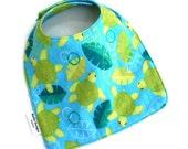 Baby Boy Bib Baby Girl Bib with Flannel Sea Turtles