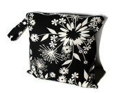 Wet Bag Waterproof for Cloth Diapers in Pretty Black and White