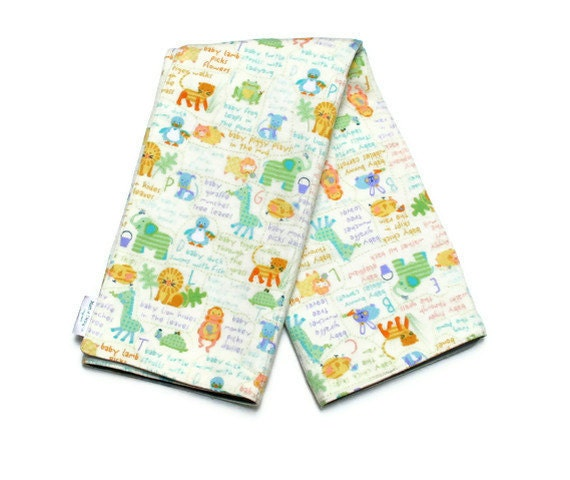 Baby Boy Changing Pad in Flannel Baby Animals