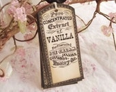 Vintage Label, Vanilla Extract, Baking Tags Vintage (Black Ink, Aged) 8 - SweetlyScrappedArt