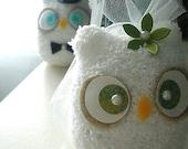 Bride & Groom Chubby Owls- Custom Set of 2