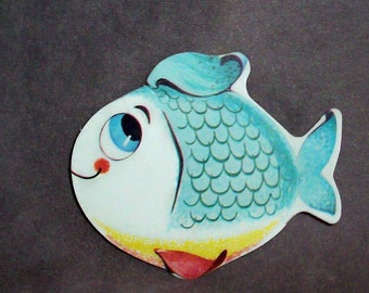 Fisher-Price VINTAGE paper Fish Big Bill Pelican 1961