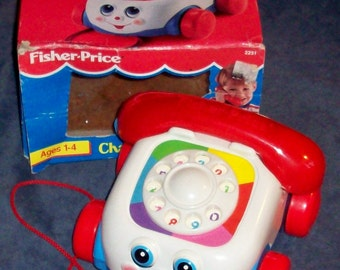 Fisher-Price Toy 2251 CHATTER TELEPHONE with display box