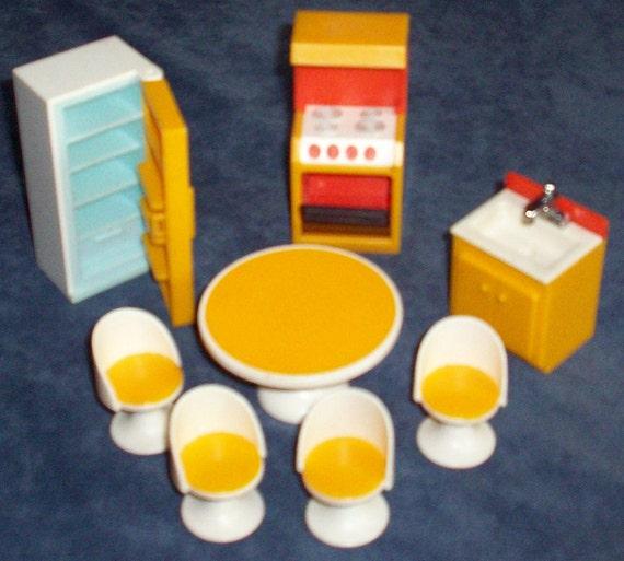 fisher price dollhouse furniture kitchen set by tedsfptoys on etsy