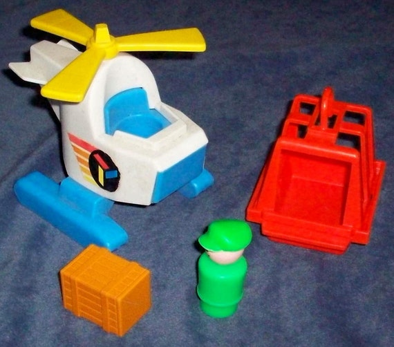 Fisher-Price Toy 635 Little People Air Lift Copter