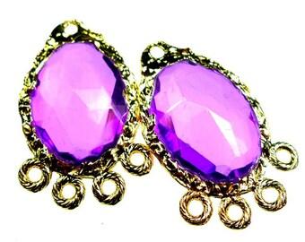 Purple stone dangles 2