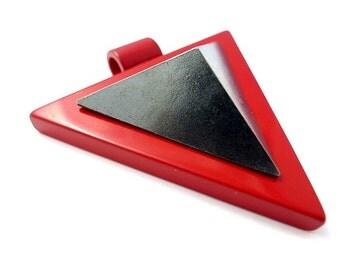 Red triangle pyramide pendant